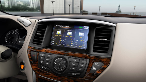 Nissan показывает измененный интерьер нового Pathfinder