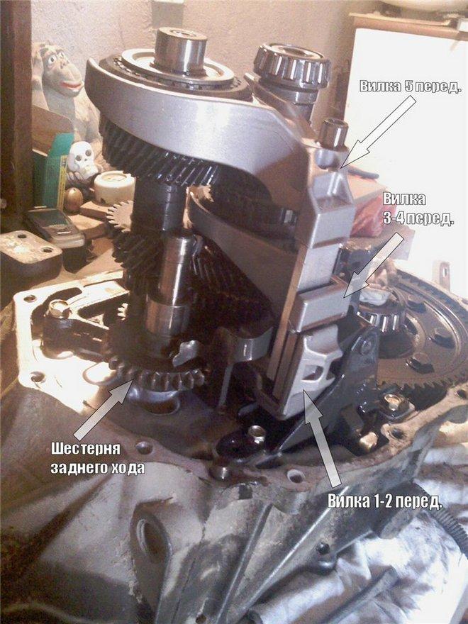 Разборка МКПП и замена подшипника первичного вала Nissan Almera N15