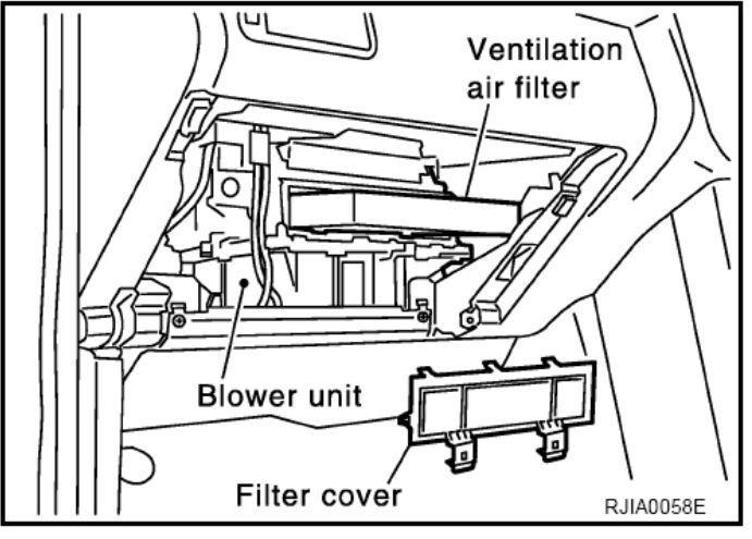 Замена салонного фильтра Nissan X-Trail 1