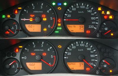 Диагностика комбинации приборов Nissan Navara
