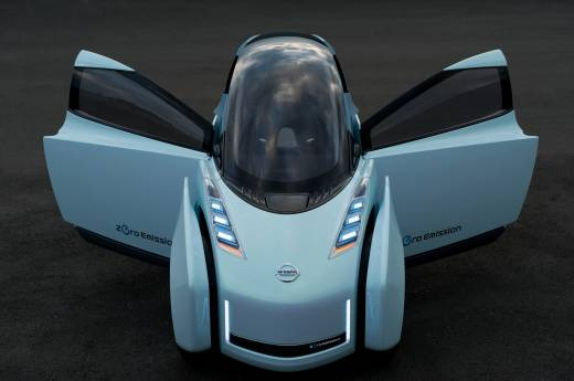 Nissan Land Glider - двухместный электромобиль-гибрид