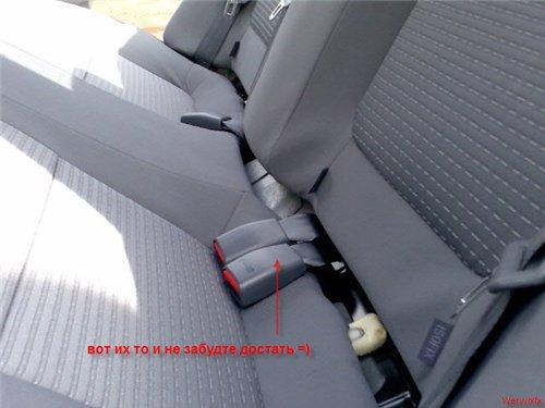 Разборка задней полки и снятие сидения в Альмера Классик