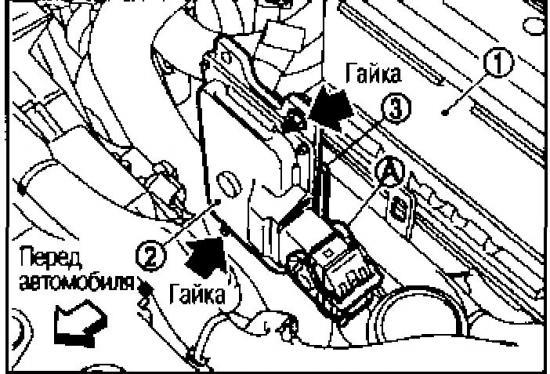 Демонтаж и установка блока управления вариатором Nissan Qashqai
