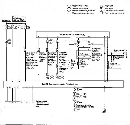 Схема системы звуковой сигнализации Nissan Qashqai