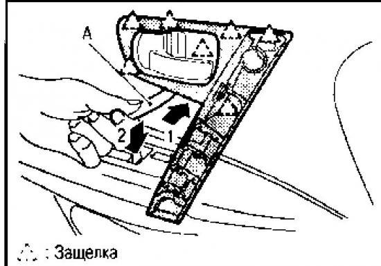 Демонтаж и установка отделки передней двери Nissan Qashqai
