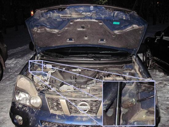 Чистка форсунок омывателя лобового стекла Nissan X-Trail