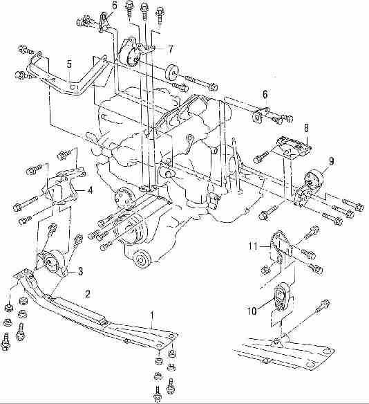 Демонтаж и установка двигателя Nissan Almera