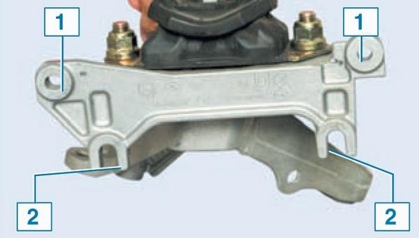 Замена левой опоры двигателя Nissan Almera G15