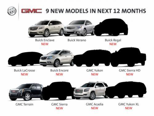 Buick и GMC готовят шесть новых моделей