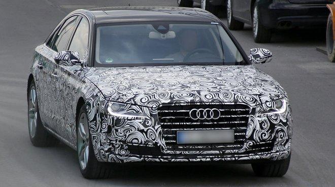 Стали известны фотографии прототипа рестайлингового Audi A8