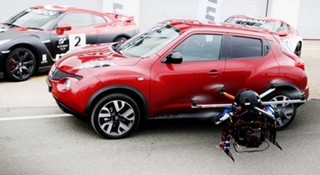 Nissan Juke совместят с вертолетом Skycam