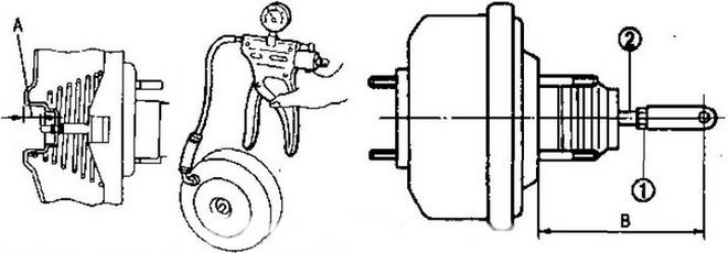 Регулировка вакуумного усилителя тормозов Nissan Qashqai